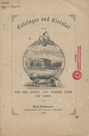 Catalogue and Circular of the State Normal School, Bridgewater, Massachusetts for the Spring and Summer Term of 1860