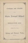 Catalogue and Circular of the State Normal School at Bridgewater, Mass. Eighty-First Term. Spring and Summer Term, 1873
