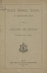 State Normal School at Bridgewater, Mass., Catalogue and Circular. Forty-First Year, 1880-81