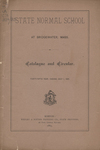 State Normal School at Bridgewater, Mass., Catalogue and Circular. Forty-Fifth Year, ending July 1, 1885 by Bridgewater State Normal School