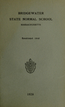 Bridgewater State Normal School. Massachusetts. 1926 [Catalogue] by Bridgewater State Normal School