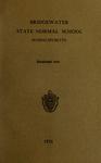Bridgewater State Normal School. Massachusetts. 1931 [Catalogue]