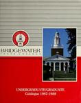 Bridgewater State College Undergraduate/Graduate Catalogue 1987-1988