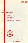 Bulletin of the Massachusetts State College at Bridgewater: Graduate School and Division of Continuing Studies, 1966-1967