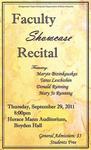 Faculty Showcase Recital (September 29, 2011)