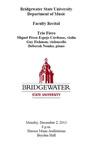 Faculty Recital: Trio Fiero (December 2, 2013)