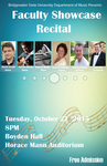 Faculty Showcase Recital (October 27, 2015) by Daniel Acsadi, Maryte Bizinkauskas, James Hay, Taras Leschishin, Jerome Mouffe, and Deborah Nemko