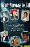 Faculty Showcase Recital (October 25, 2016) by Maryte Bizinkauskas, Edwin Milham, Rachel Daly, Spencer Aston, James Hay, and James Bohn