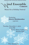 Bridgewater State University Wind Ensemble: Music for a Holiday Festival (December 2010) by Bridgewater State University Wind Ensemble