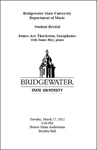 Student Recital: James-Ace Thackston, Saxophones (March 2012)