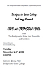 Bridgewater State College Fall Jazz Concert: Live at Crimson Hall (November 2009) by Bridgewater State College Jazz Ensemble and Bridgewater State College Jazz Combos