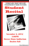 Student Recital: 300-400 Level Students (November 2, 2012)