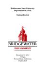 Student Recital (December 10, 2012)
