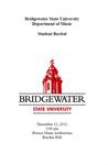 Student Recital (December 12, 2012)