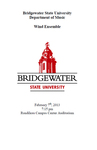 Bridgewater State University Wind Ensemble Concert (February 7, 2013)