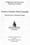Textures Chamber Music Ensemble (April 18, 2013)
