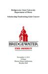 Scholarship Fundraising Gala Concert (November 4, 2013)