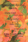 Student Recital: Mary Sanker and Diane Card (November 8, 2013)