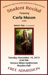 Student Recital: Carla Mason (November 19, 2013) by Carla Mason