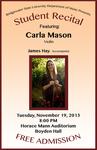 Student Recital: Carla Mason (November 19, 2013)