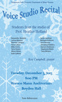 Voice Studio Recital (December 3, 2013)