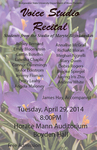 Voice Studio Recital (April 29, 2014)
