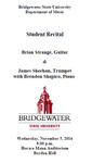 Student Recital: Brian Strange and James Sheehan (November 5, 2014)