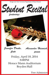 Student Recital: Jennifer Drake and Alexander Heinrich (April 18, 2014)