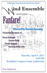 Bridgewater State University Wind Ensemble: Fanfare (April 9, 2015)