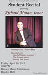 Student Recital: Richard Moran (April 10, 2015)