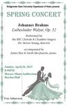 Spring Concert (April 26, 2015) by Bridgewater State University Chorale and Bridgewater State University Chamber Singers