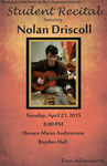 Student Recital: Nolan Driscoll (April 21, 2015)