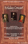 Holiday Concert (December 4, 2015) by Bridgewater State University Chorale and Bridgewater State University Chamber Singers