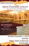 Opera Ensemble Concert (December 1, 2015)