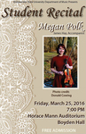 Student Recital: Megan Polk (March 25, 2016)