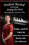 Student Recital: Jiaying Zhu (April 22, 2016)